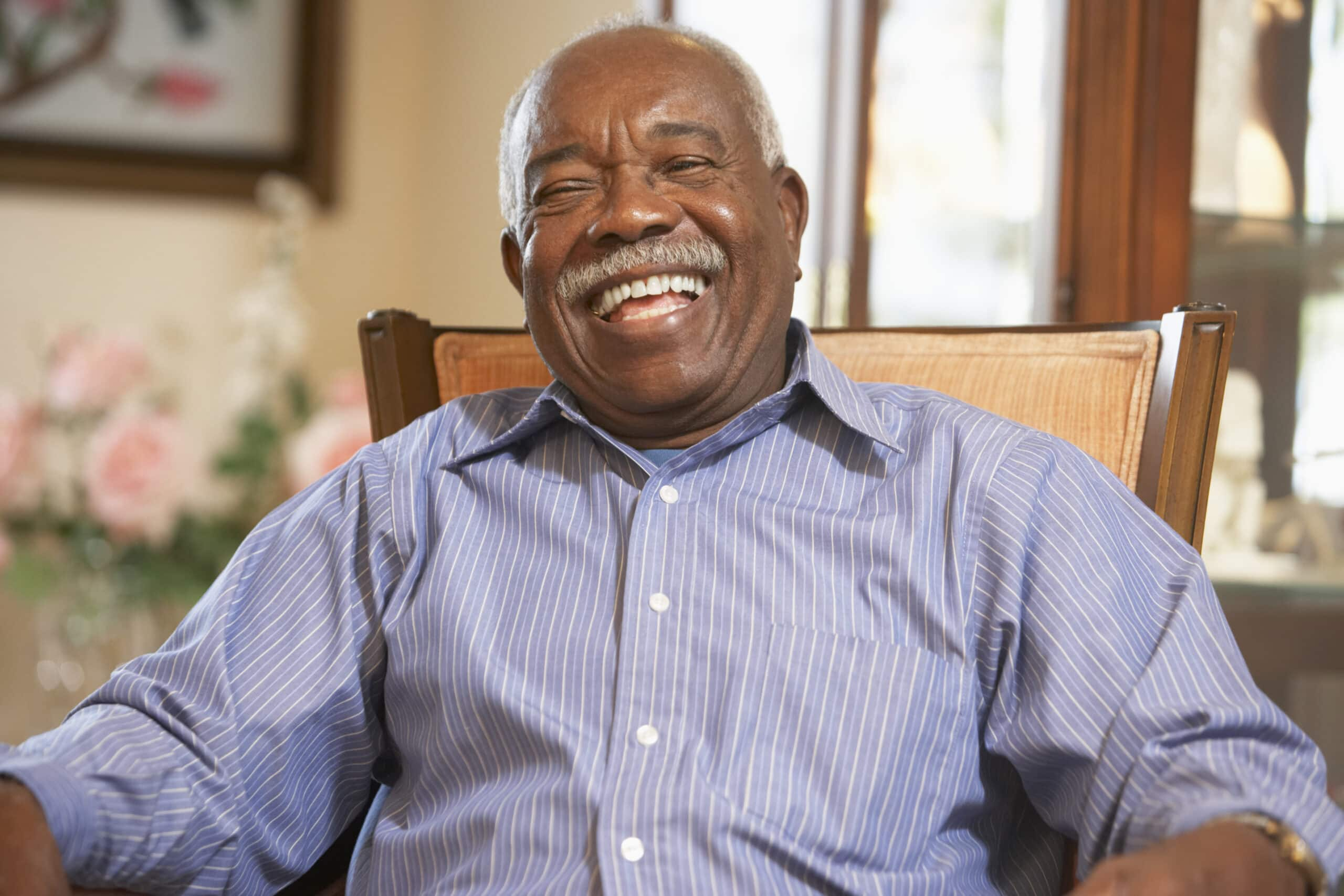 Happy Laughing Elderly Man