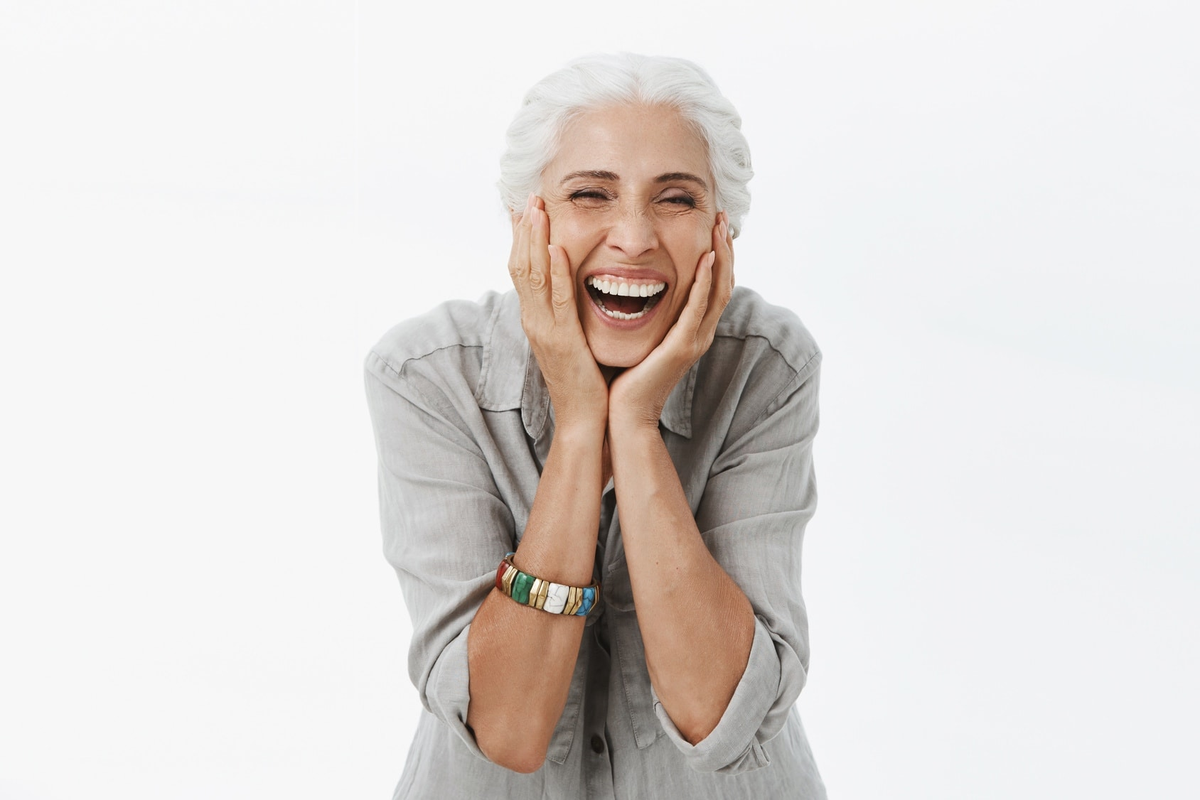 Home Care franchise - happy laughing elderly woman