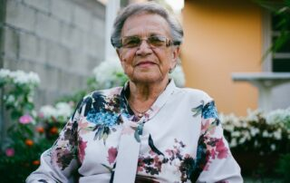 Senior woman, grandmother, receiving care at home