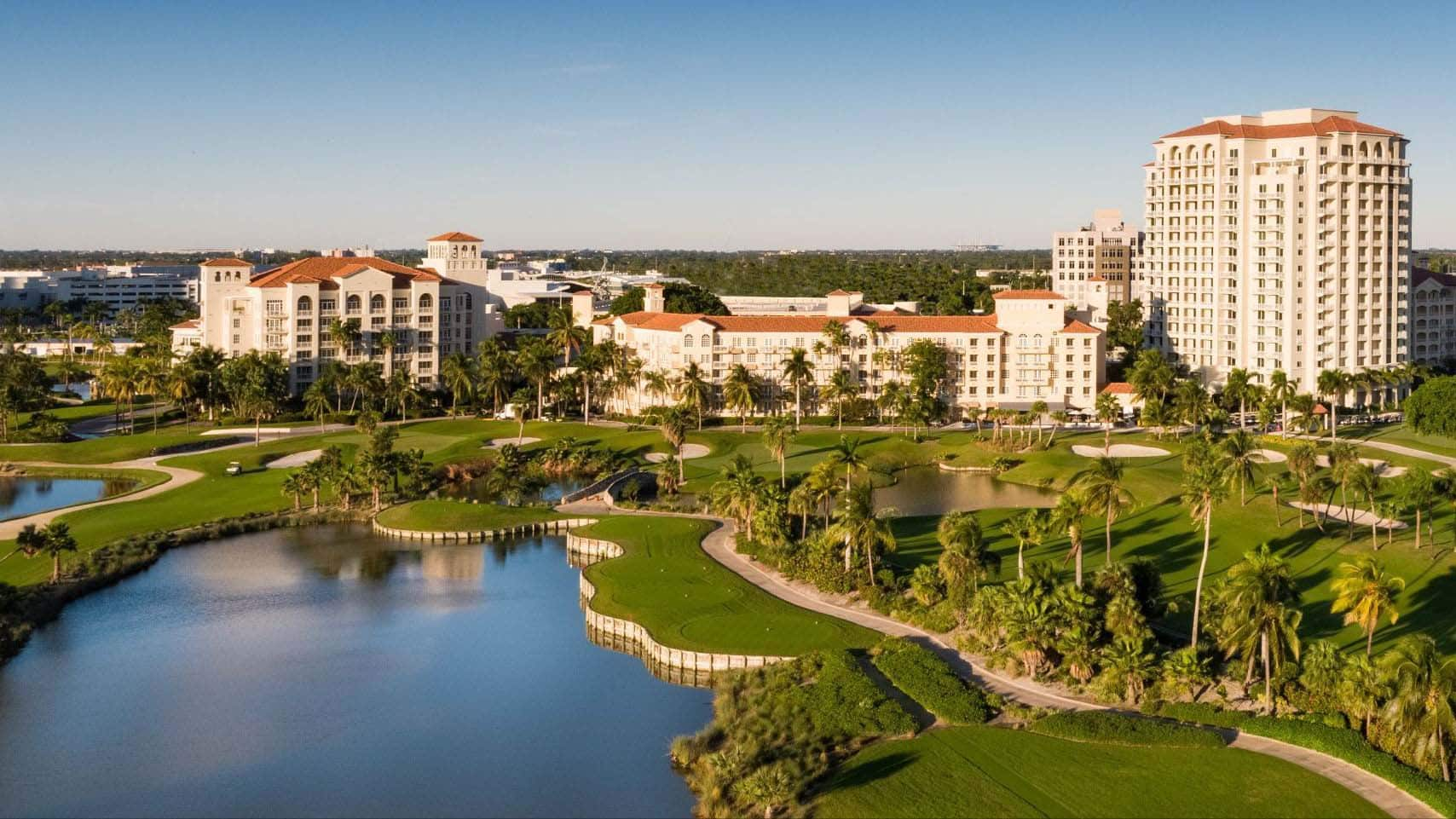 Senior Living 100 event banner showing JW Marriott in Miami, FL
